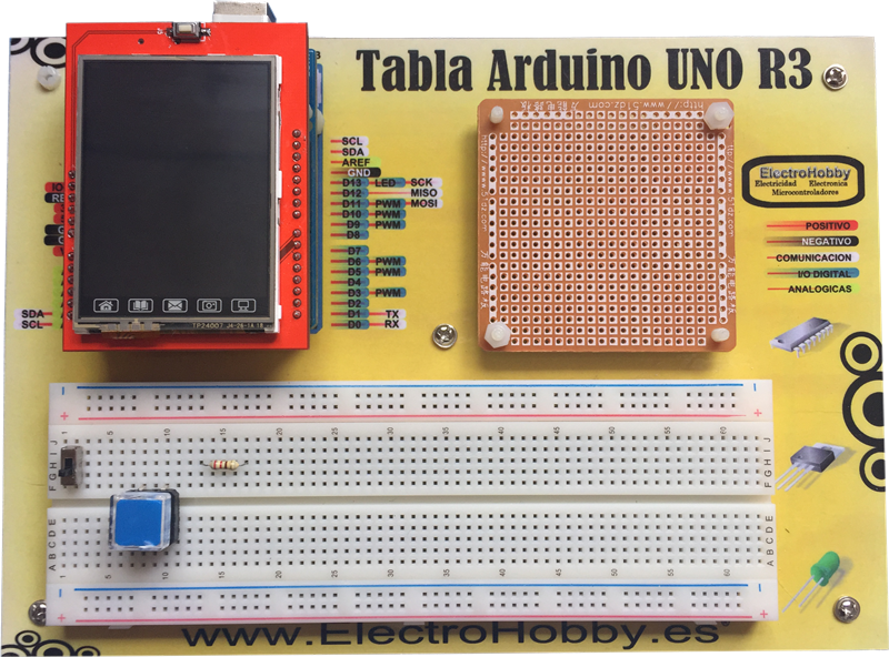 TFT LCD Touch 2.4» Shield para Arduino UNO