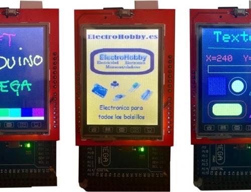 "TFT LCD Touch 2.4"" Shield para Arduino MEGA"